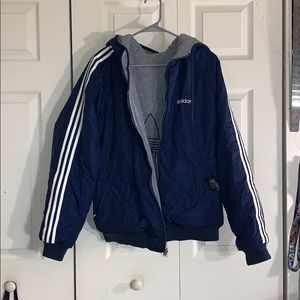 Adidas Reversible Lined Bomber w/ Hood